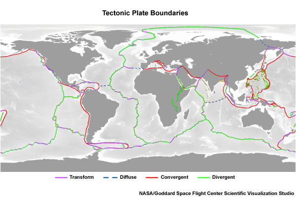 Location Of Convergent Continental Continental Collision ...
