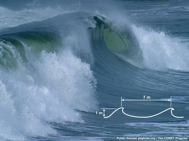 seiche water waves period résonance
